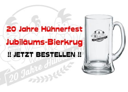 Pfuhler Hühnerfest feiert 20-jährigen Geburtstag: Hol' dir den Jubiläums-Bierkrug zu Weihnachten